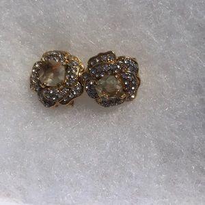 Large Gold Flower Earrings